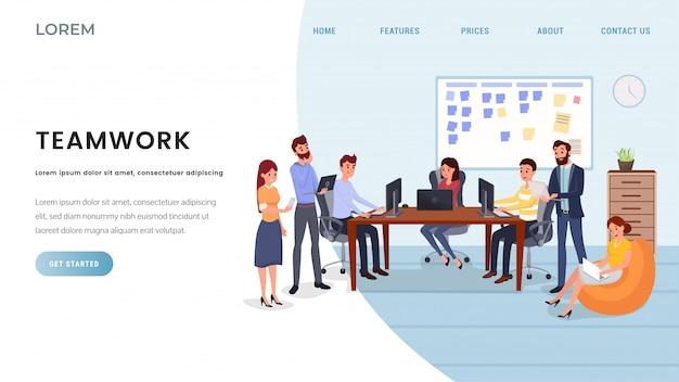 Modelo de página de destino de empresa de negócios