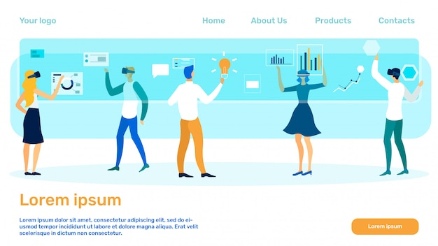 Modelo de página de destino de empresa de pesquisa de finanças