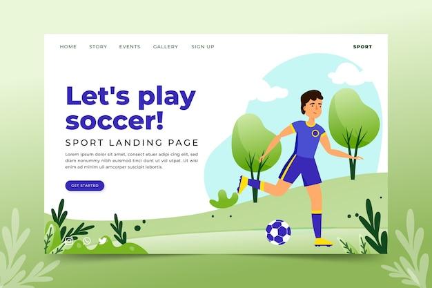 Modelo de página de destino de esporte ao ar livre