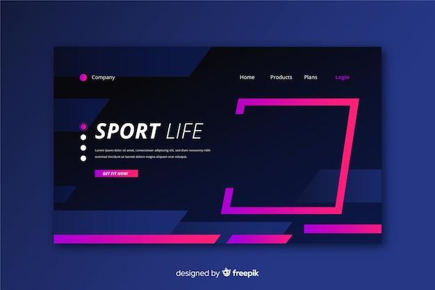 Modelo de página de destino de esporte criativo