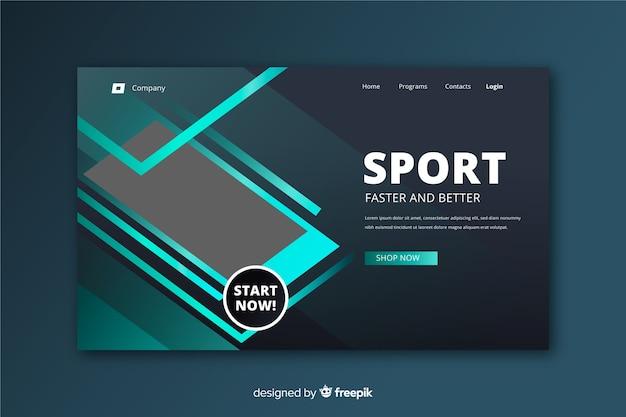 Modelo de página de destino de esporte minimalista