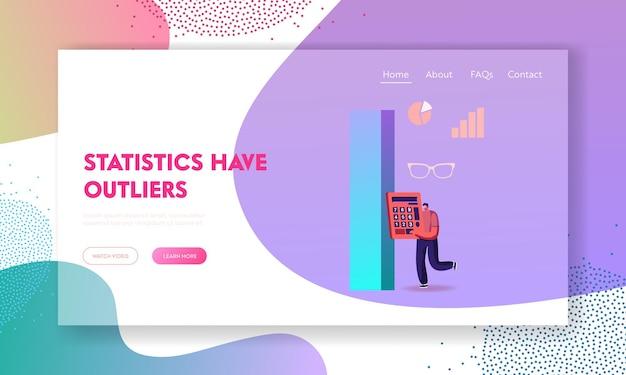 Modelo de página de destino de estatísticas de auditoria ou ciência