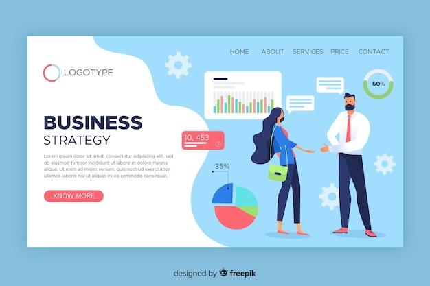 Modelo de página de destino de estratégia de negócios