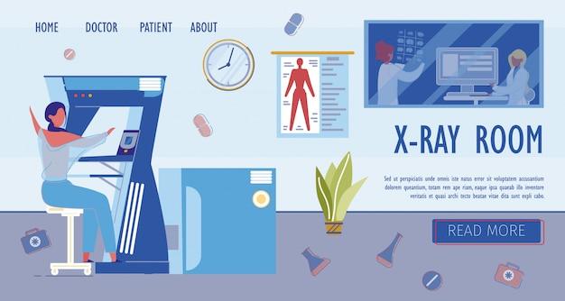 Modelo de página de destino de estudos de raio-x e diagnóstico precoce