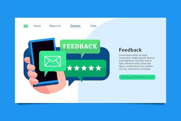 Modelo de página de destino de feedback simples