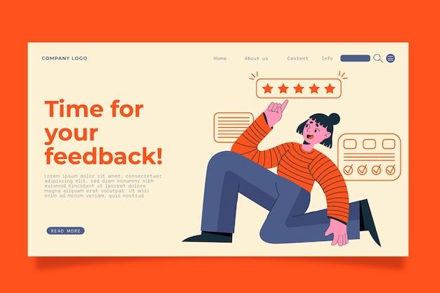Modelo de página de destino de feedback