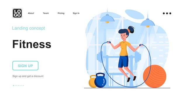 Modelo de página de destino de fitness