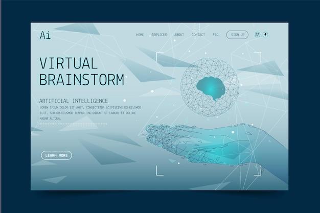 Modelo de página de destino de inteligência artificial