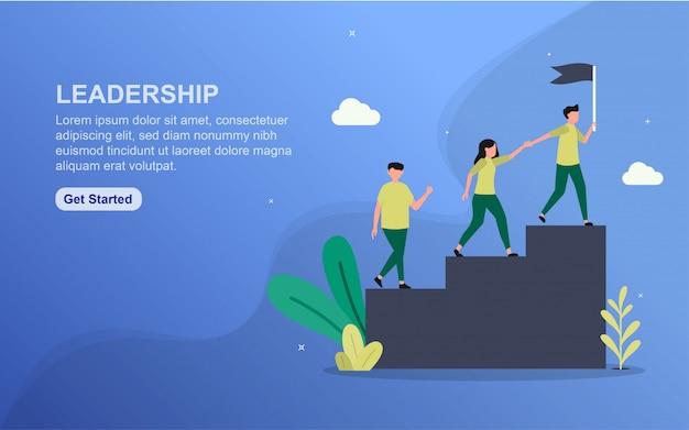 Modelo de página de destino de liderança.
