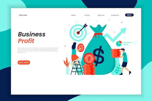 Modelo de página de destino de lucro comercial
