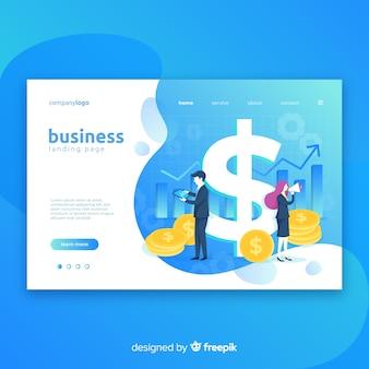 Modelo de página de destino de marketing de negócios