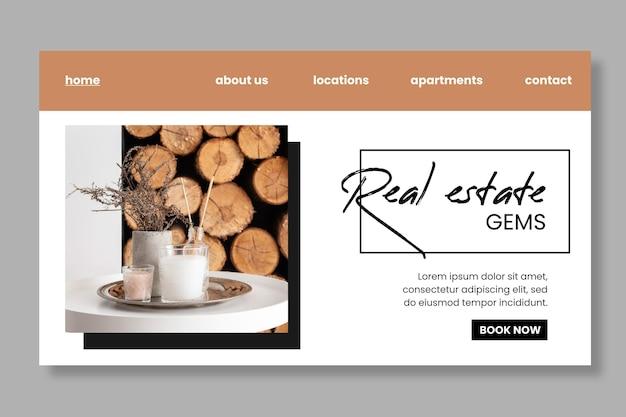 Modelo de página de destino de negócios imobiliários