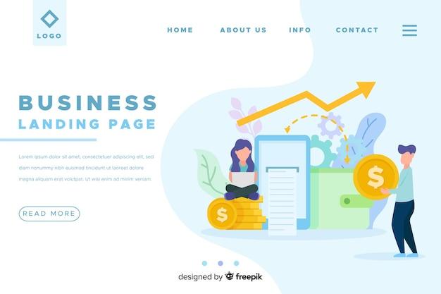 Modelo de página de destino de negócios simples