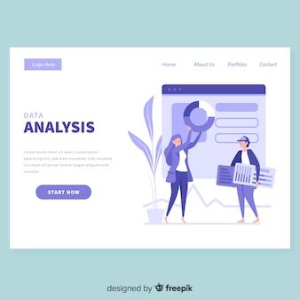 Modelo de página de destino de negócios