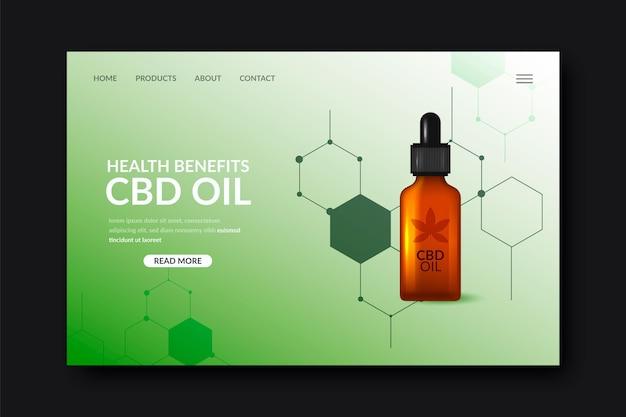 Modelo de página de destino de óleo de cannabis