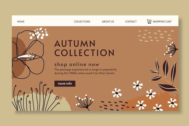 Modelo de página de destino de outono Vetor grátis