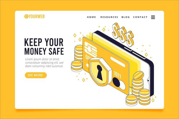 Modelo de página de destino de pagamento seguro