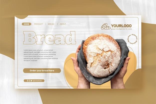 Modelo de página de destino de pão fresco