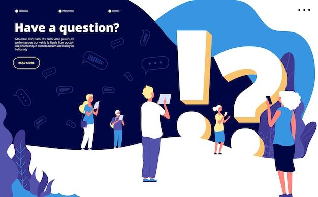 Modelo de página de destino de perguntas frequentes