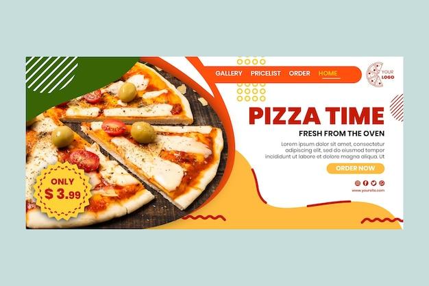 Modelo de página de destino de pizzaria Vetor grátis