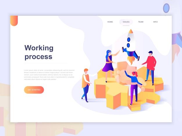 Modelo de página de destino de processos empresariais