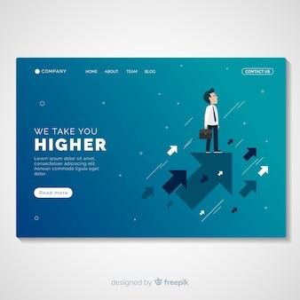 Modelo de página de destino de promoção empresarial