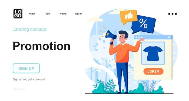 Modelo de página de destino de promoção