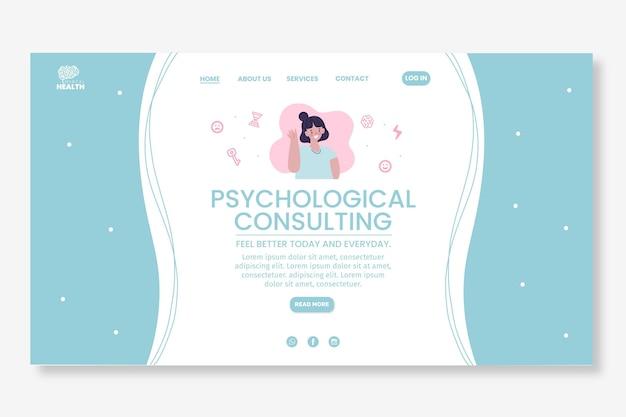 Modelo de página de destino de psicologia ilustrado Vetor grátis