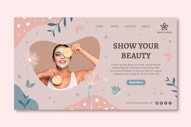 Modelo de página de destino de salão de beleza