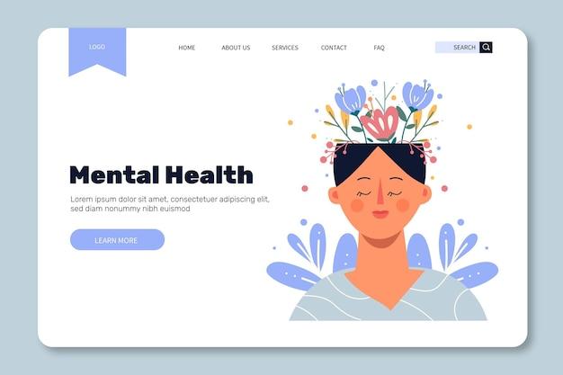 Modelo de página de destino de saúde mental