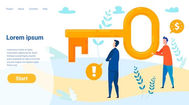 Modelo de página de destino de segredos de sucesso financeiro