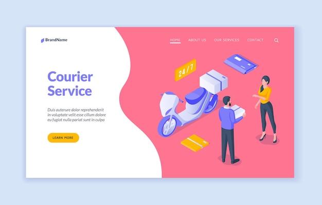 Modelo de página de destino de serviço de correio
