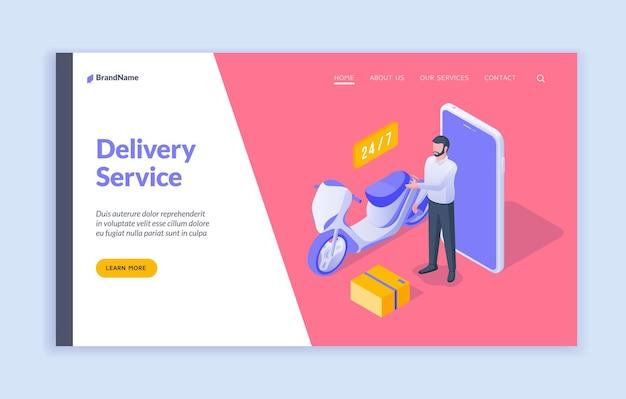 Modelo de página de destino de serviço de entrega