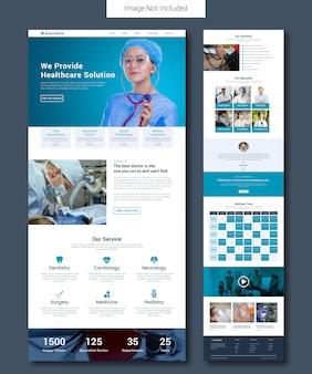 Modelo de página de destino de serviço médico