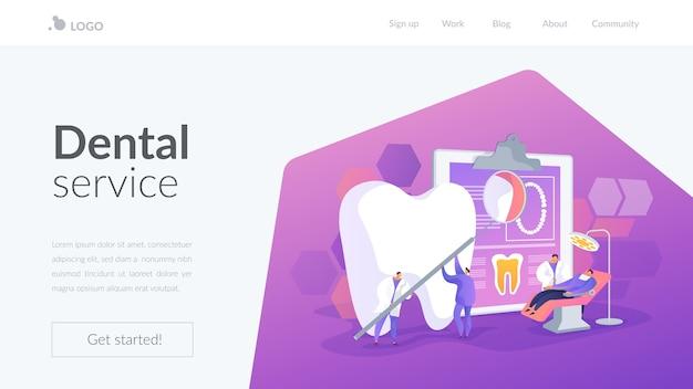 Modelo de página de destino de serviço odontológico