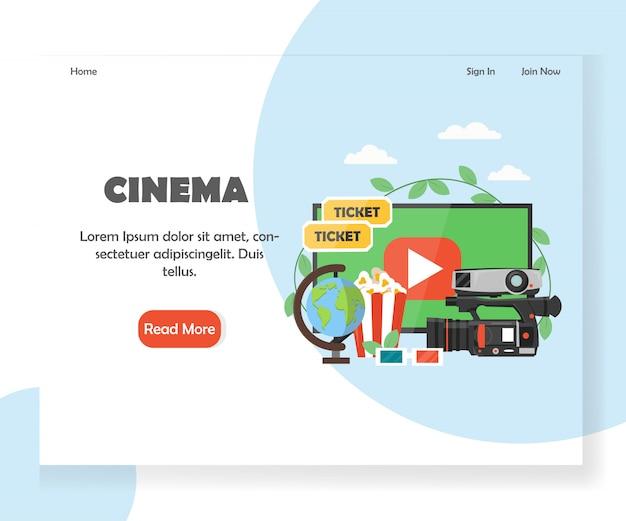 Modelo de página de destino de site de cinema