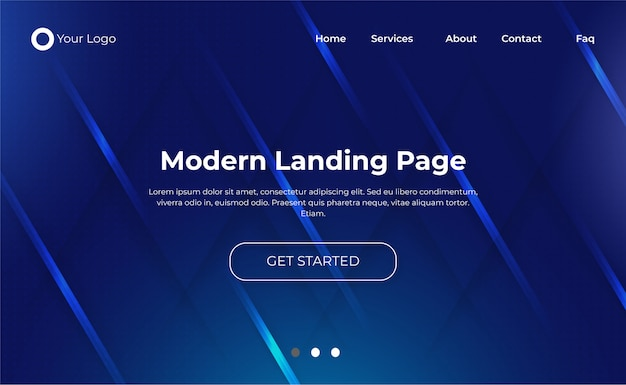 Modelo de página de destino de site moderno