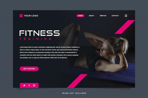 Modelo de página de destino de solução de fitness