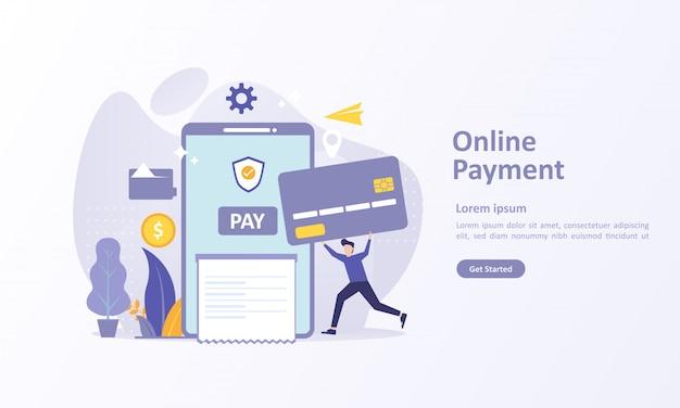 Modelo de página de destino de transferência de dinheiro