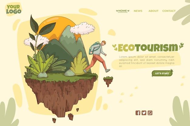 Modelo de página de destino de turismo ecológico