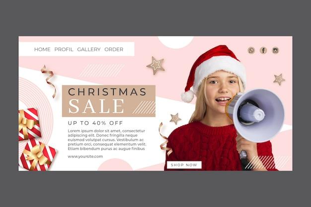 Modelo de página de destino de venda de natal