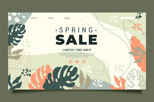 Modelo de página de destino de venda de primavera Vetor grátis