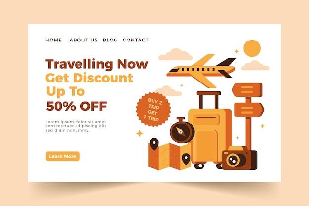 Modelo de página de destino de venda de viagens