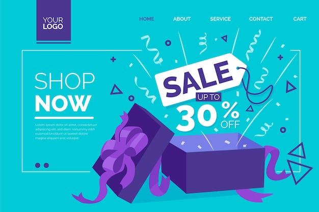 Modelo de página de destino de venda
