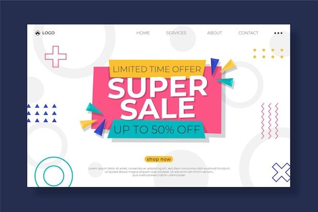 Modelo de página de destino de vendas em estilo simples