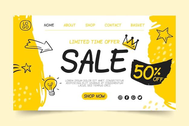 Modelo de página de destino de vendas