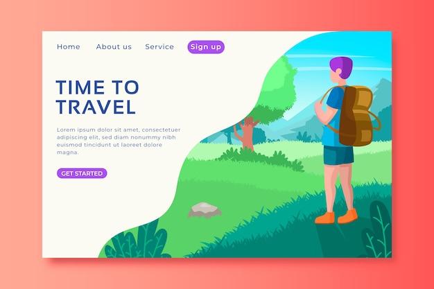 Modelo de página de destino de viagem