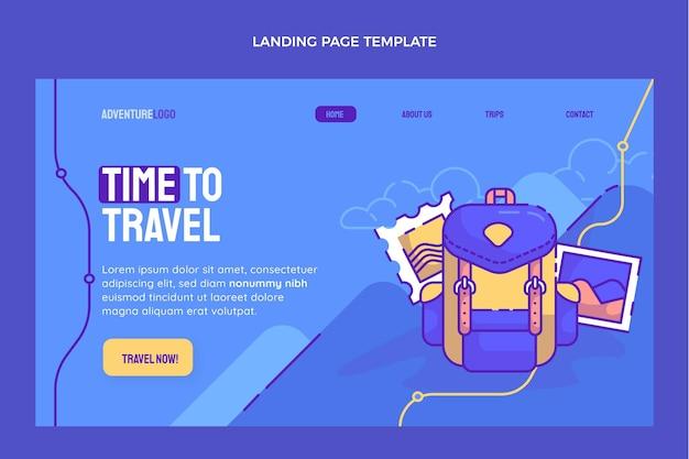Modelo de página de destino de viagens desenhado à mão