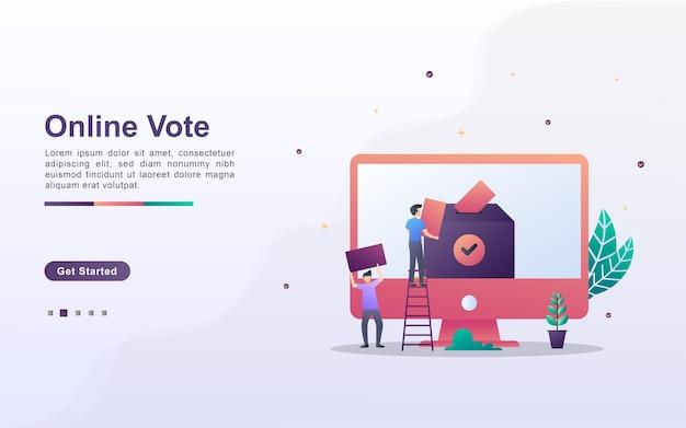 Modelo de página de destino de votação online