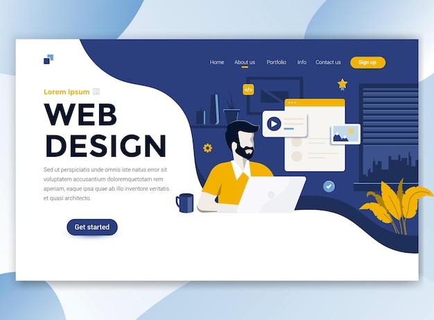 Modelo de página de destino de web design